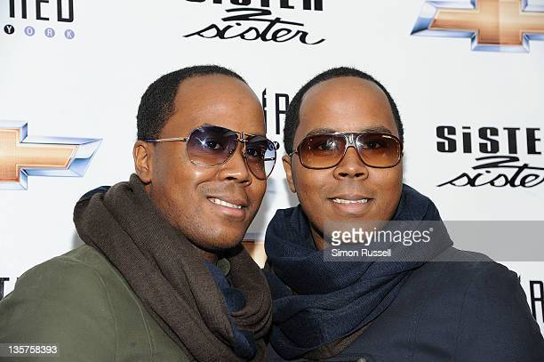 The Von Boozier Twins attend the 13th Inspired In New York Honors at the Faison Firehouse Theatre on December 13 2011 in New York City