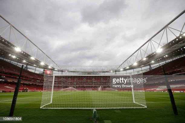 The Vorskla Poltava team line up prior to the UEFA Europa League Group E match between Arsenal and Vorskla Poltava at Emirates Stadium on September...