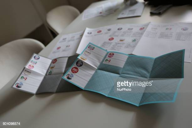 The voting cards for the Senate and the Chamber of Deputies for Italians living abroad for Italy's General Election are seen in the picture There are...