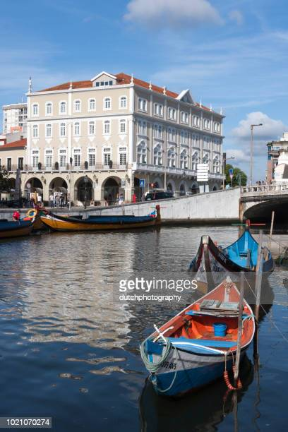 aveiro, portugal - the vouga river with traditio - aveiro district stock pictures, royalty-free photos & images