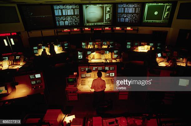 The Voyager 2 mission control room at NASA's Jet Propulsion Laboratory is also in charge of the Magellan probe and the Deep Space Network | Location...