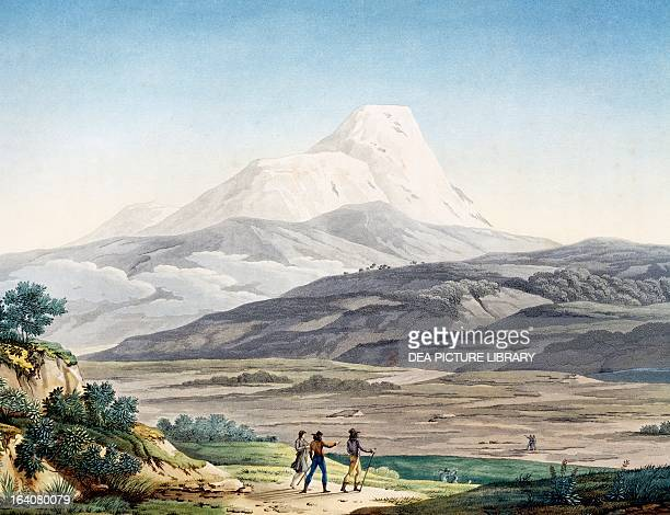 The vulcano Cayambe in the region of Quito Ecuador engraving from Views of the Andes and monuments of the indigenous peoples of America by Alexander...