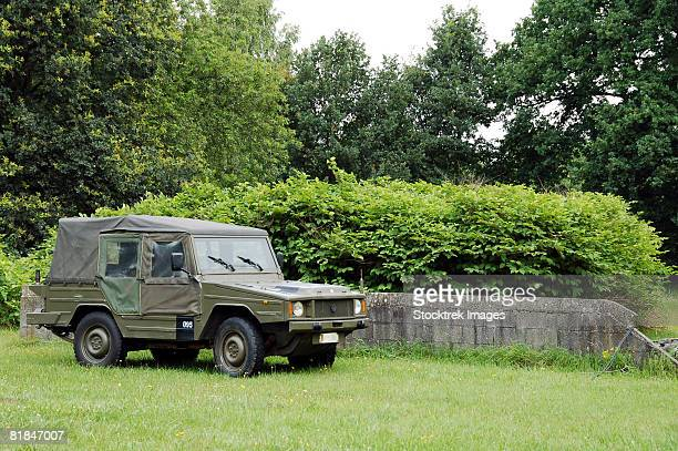 the vw iltis jeep used by the belgian army. - belgian culture stock pictures, royalty-free photos & images