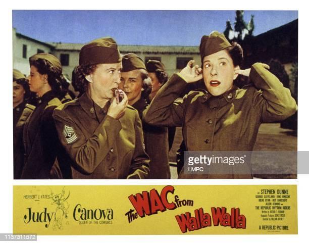 The Wac From Walla Walla US lobbycard from left Irene Ryan Judy Canova 1952