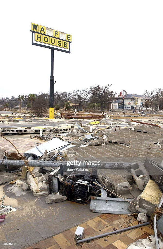 The Waffle House Lies In Ruins Along The Beach September 1 2005