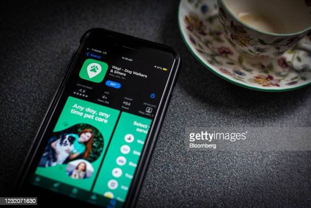 The Wag Labs Inc. Application for download in the Apple App Store on a smartphone arranged in Dobbs Ferry, New York, U.S., Thursday, April 1, 2021....