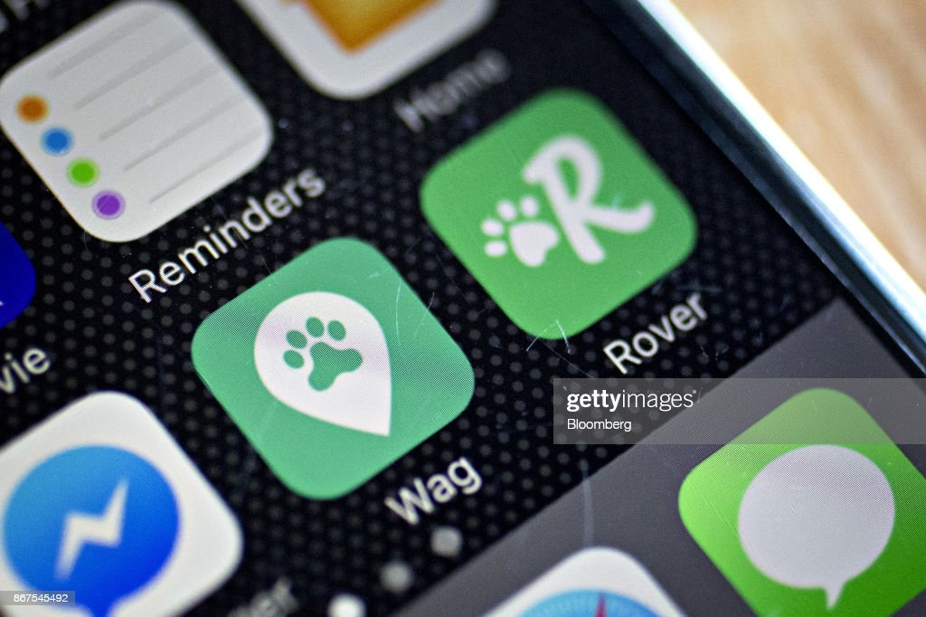 The Wag Labs Inc  and Rover com application icons are seen