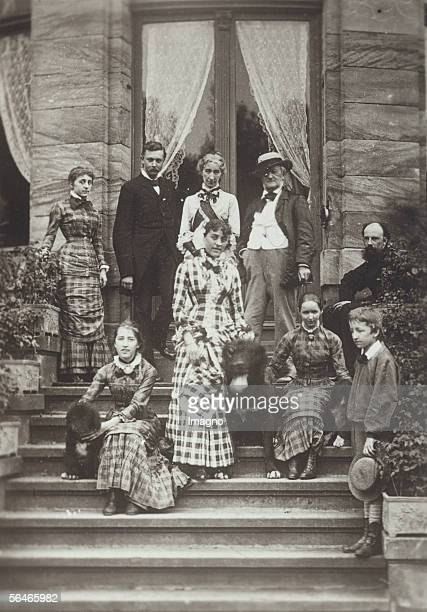 The Wagner familiy with friends Blandine von Buelow Isolde Wagner Heinrich von Stein Cosima Wagner Daniela von Buelow Richard Eva and Siegfried...