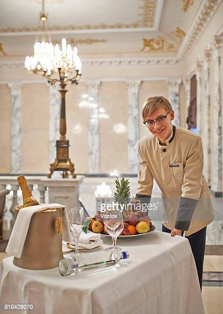 The waiter in a luxury Hotel