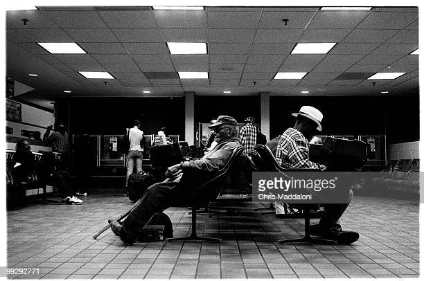The waiting room of the Greyhound station 110am