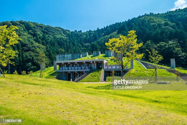 the wakasa mikata jomon museum (outside view) - history museum stock pictures, royalty-free photos & images