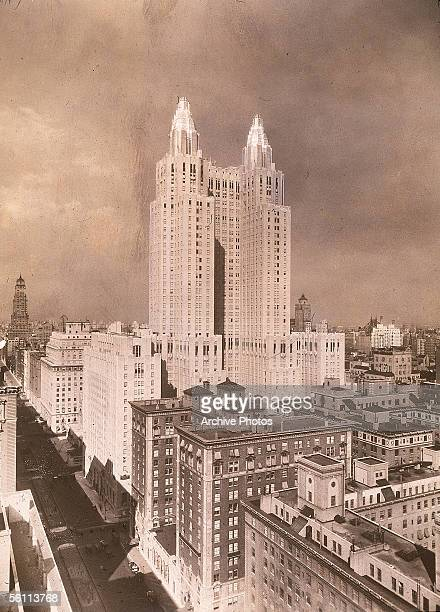 The Waldorf Astoria Hotel, on Park Avenue and 49th Street. The building, which occupies a whole city block, was completed in 1931.