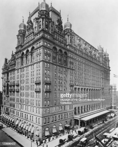 The WaldorfAstoria Hotel on Fifth Avenue between 33rd and 34th Streets circa 1897 It was opened on 1st November 1897