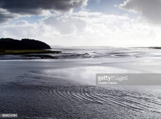 The Wales Coast Path in Carmarthenshire: river Taff estuary