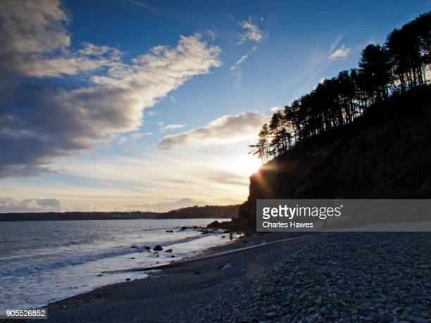 The Wales Coast Path in Carmarthenshire: The beach at Amroth