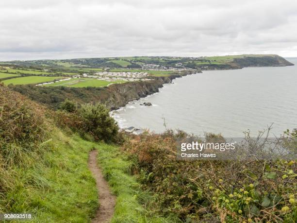 The Wales Coast Path in Ceredigion between Cardigan and Borth