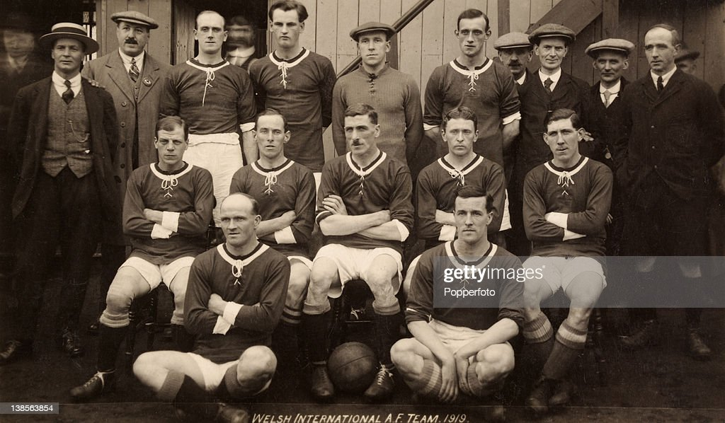 3b89bd479 The Wales football team prior to their International match against ...