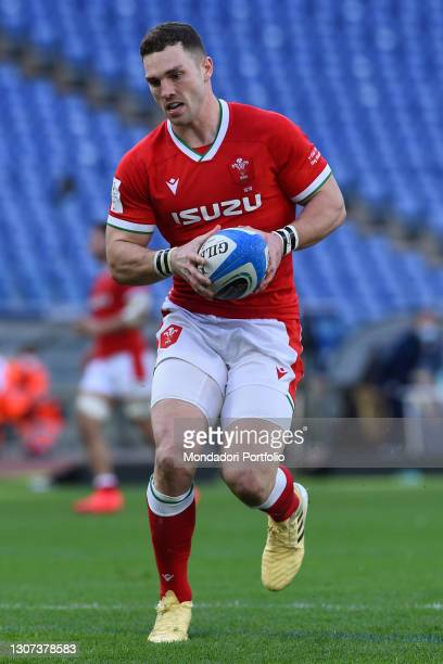 The Wales player George North during the Italy-Wales match of the Six Nations tournament at the stadio Olimpico. Rome , 13 March, 2021