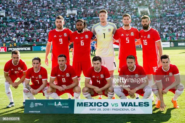 The Wales starting lineup for the international friendly match between Mexico and Wales at the Rose Bowl on May 28 2018 in Pasadena California