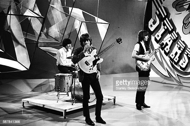The Walker Brothers perform on TV show Thank Your Lucky Stars United Kingdom August 1965 LR Gary Leeds Scott Walker John Walker