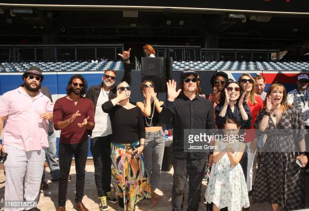 The Walking Dead cast attends The Walking Dead Walker Horde at Petco Park during Comic Con 2019 on July 20 2019 in San Diego California