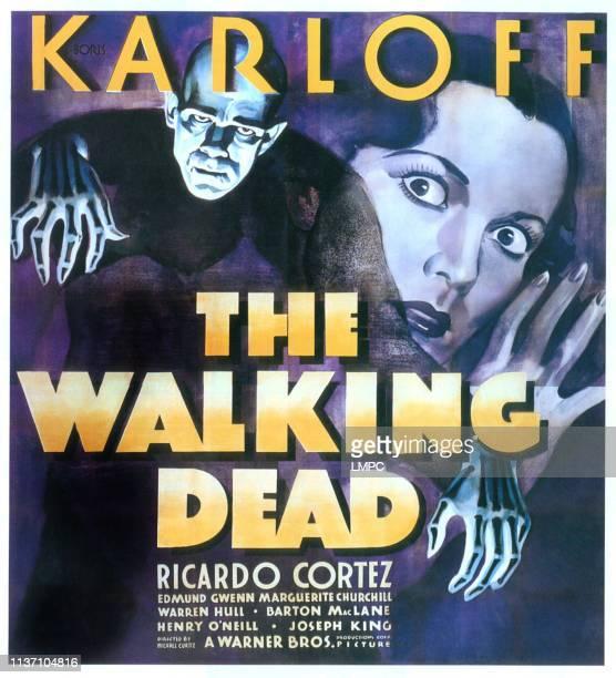 The Walking Dead poster Boris Karloff Marguerite Churchill 1936