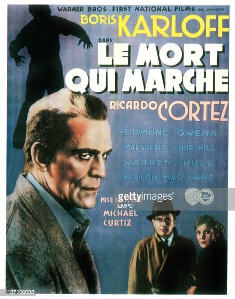 The Walking Dead poster Boris Karloff Warren Hull Marguerite Churchill 1936