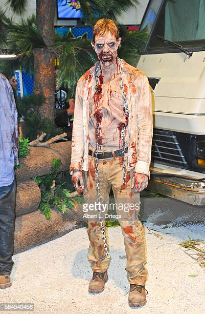 'The Walking Dead' zombie at the AMC booth on Day 1 of ComicCon International 2016 at San Diego Convention Center on July 20 2016 in San Diego...