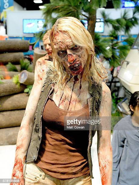 'The Walking Dead' zombie attends ComicCon International 2016 preview night on July 20 2016 in San Diego California