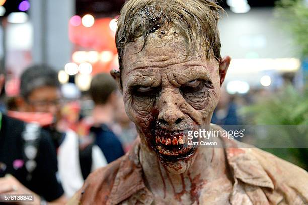 'The Walking Dead' zombies attend ComicCon International 2016 preview night on July 20 2016 in San Diego California