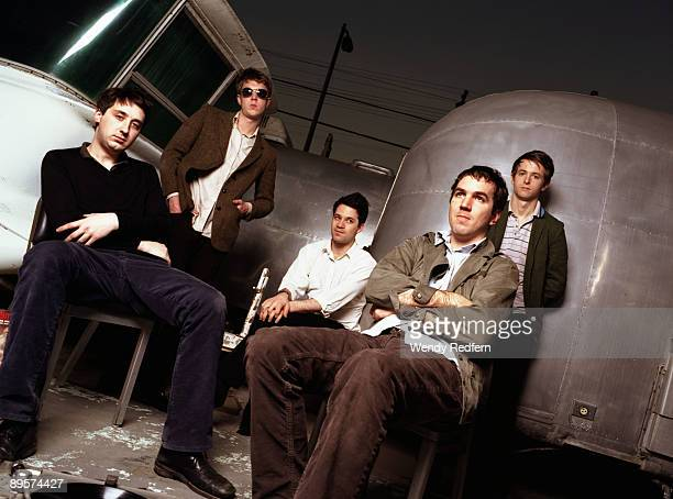 The Walkmen pose for a group shot on May 1 2003 in Los Angeles California