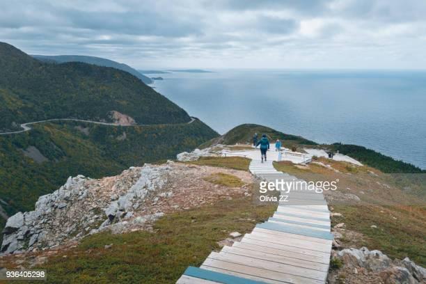 The walkway of Skyline, Cape Breton highlands National Park.