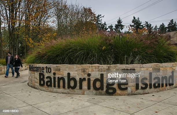 The walkway to the Bainbridge Island Ferry Terminal is viewed on November 4 in Bainbridge Island, Washington. Seattle, located in King County, is the...