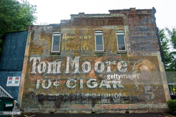The wall of an old building in downtown Hot Springs
