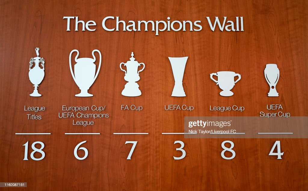 Liverpool Update Their 'Champions Wall' : News Photo