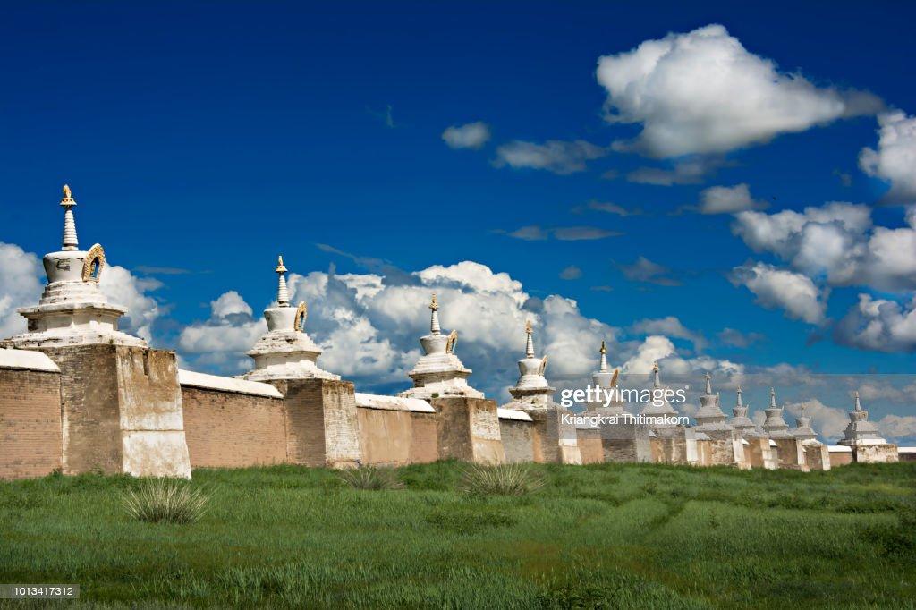 The wall of old capital city:Karakorum : ストックフォト