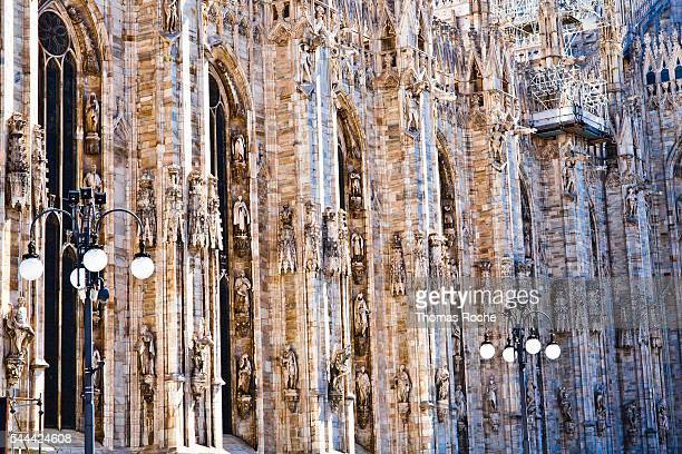 The wall of the Duomo