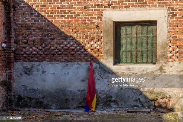 The wall of the execution in the cemetery of La Almudena