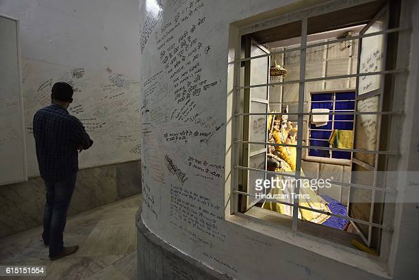 The wall of the Radha Krishna temple in Kota's Talwandi is popular among students scribble their wishes in the hope that their prayers will be...