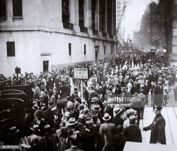 The Wall Street Crash New York City USA Thursday 24 October 1929 The panicking crowds that collected that morning outside the Stock Exchange building...