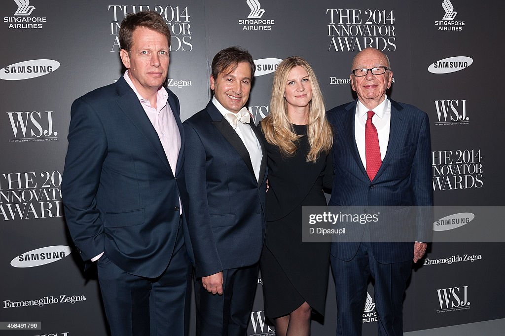 The Wall Street Journal chief revenue officer Trevor Fellows, WSJ. Magazine publisher Anthony Cenname, WSJ. Magazine editor-in-chief Kristina O'Neill, and News Corp executive chairman Rupert Murdoch attend WSJ. Magazine's 'Innovator Of The Year' Awards at the Museum of Modern Art on November 5, 2014 in New York City.