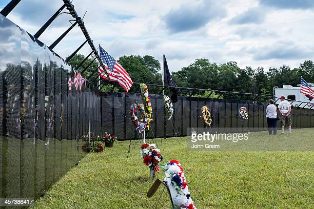 The Wall That Heals traveling half scale replica of the Vietnam Veterans Memorial The Wall is part of a mobile museum that visits towns throughout...
