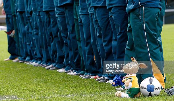 The Wallaroos mascot is seen during the second test match between the New Zealand Black Ferns and the Australian Wallaroos at Porirua Park on October...