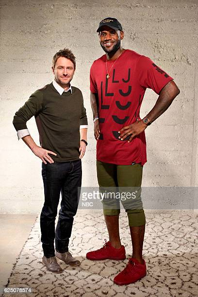 THE WALL 'The Wall/LeBron Press Day' Pictured Chris Hardwick LeBron James