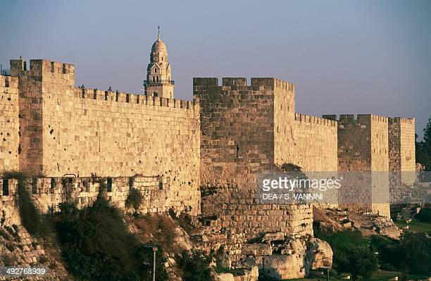 The walls in the vicinity of the port of Jaffa Old City of Jerusalem Israel