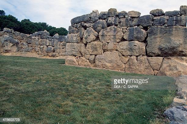 The walls of Ampurias Greek city founded in the 6th century BC Catalonia Spain Greek civilisation