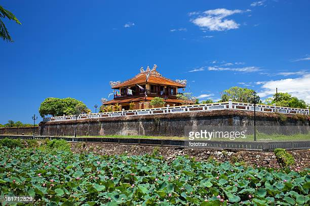 The Walls of Imperial City, or Citadel, in Hue, Vietnam