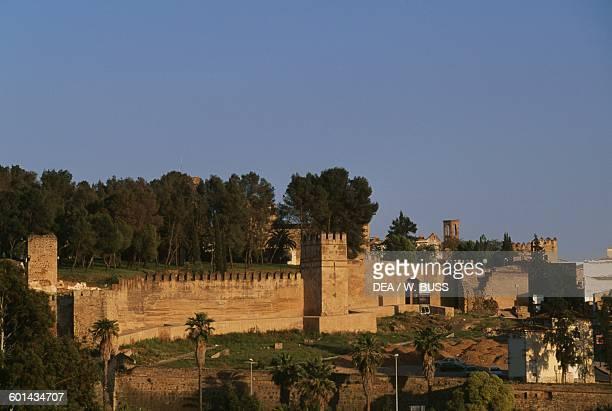 The walls of the Alcazaba of Badajoz Extremadura Spain