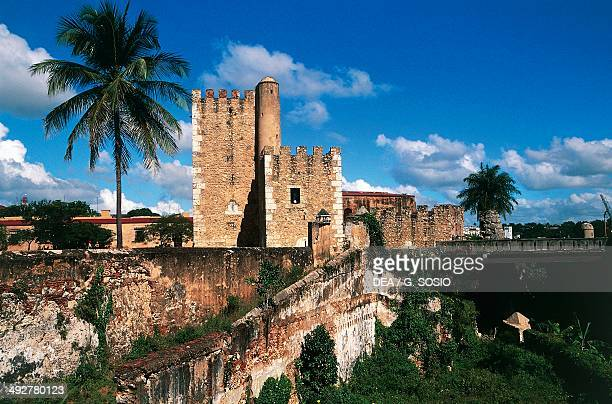 The walls of the colonial city of Santo Domingo Dominican Republic