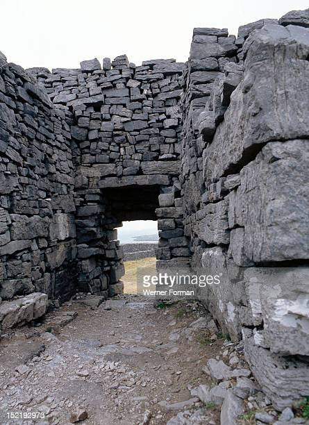 The walls of the Fort of Dun Aengus on the Isle of Inishmore Said to be built by the mythical race the Fir Bholg Ireland Celtic 1st5th circa AD Isle...